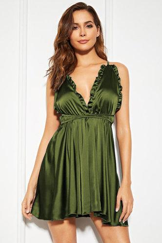 front_Jenn Army Green Dress