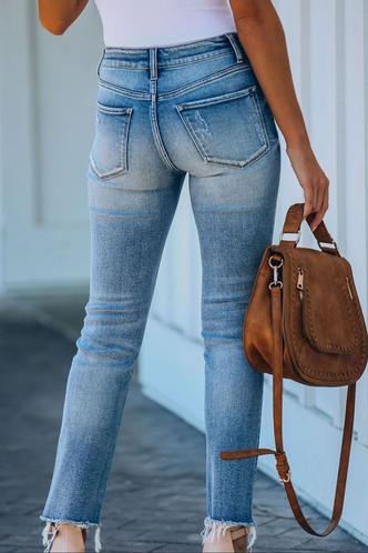 back_Kenna Eartha Blue Ripped Knee Jeans