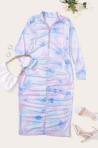 back_Charlotte Jablich Tie Dye Plus Zig Up Bodycon Dress