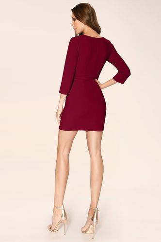 back_Sweetest Things Burgundy Mini Dress