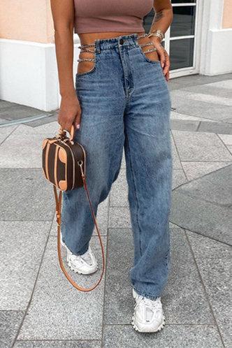 front_Paulette Blue Chained Cutout Jeans