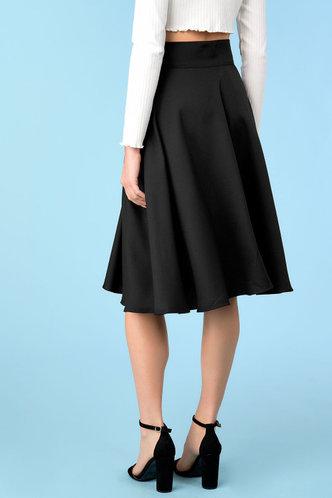 back_Worth It Black Skirt