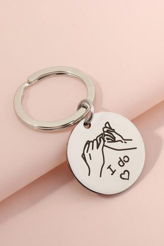 front_Winnie Enid Silver Keychain