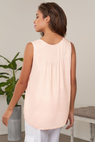 back_Step By Step Pink Sleeveless Top