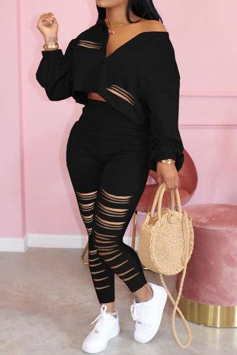 front_Christina Elva Black Set