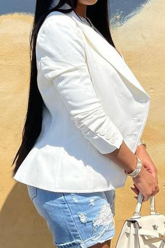 back_Business Lapel Neck Solid Pocket White Outerwear
