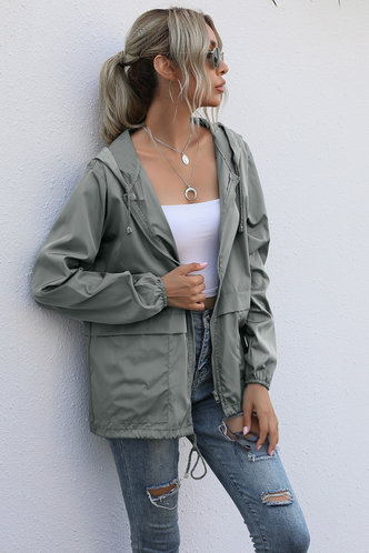 front_Levana Grey Windbreaker