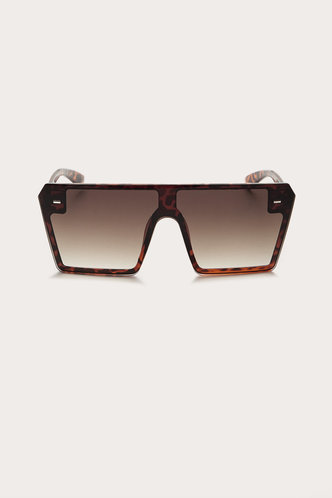 front_Sebastiane Ella Brown And Leopard Square Frame Sunglasses