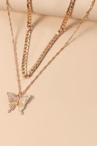 front_Anne Evangeline Gold Necklace 2pcs