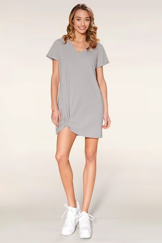 back_Light Me Up Grey Mini Dress