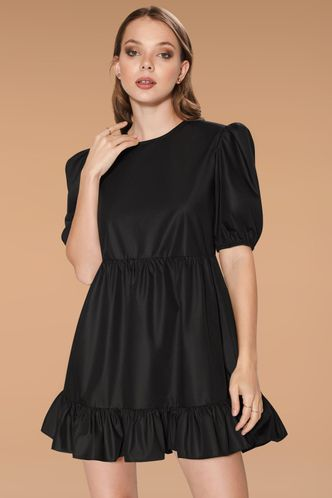 front_Little Secret Black Mini Dress
