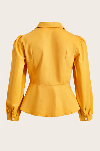 back_AlManamah Mustard Yellow Blouse