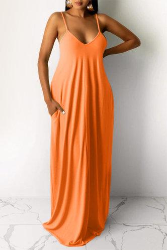 front_Jean Elva Orange Dress