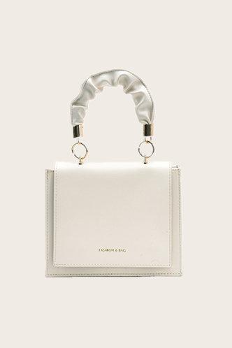 front_Flora Ella White Satchel Bag