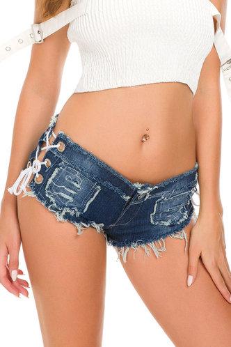 front_Olivia Elaine Wash Blue Denim Shorts