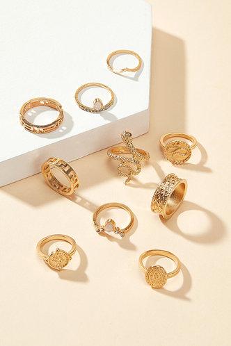 back_Starr Ella Gold Snakeskin Decor Ring 10pcs