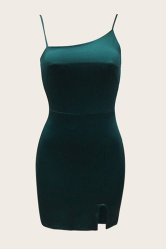 back_Vida Eartha Army Green Bodycon Dress