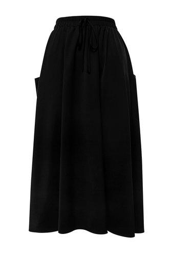 front_Sibyl Elaine Elegant Black Skirt