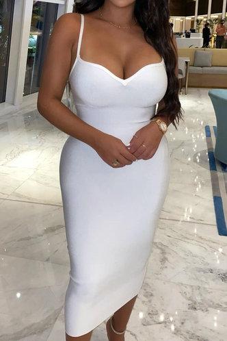 back_Elissa Evangeline White Cami Bodycon Dress