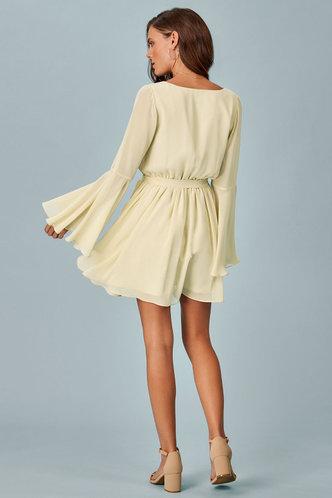 back_Perfectly Neutral Champagne Mini Dress