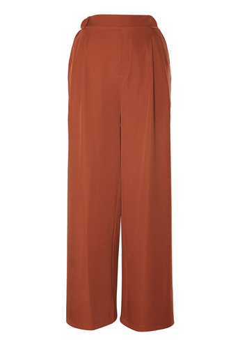 back_Viola love Rust Red Hi-Rise Culotte pants