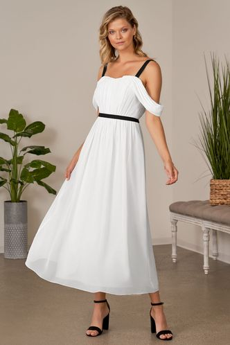 front_Drive All Night Ivory Maxi Dress