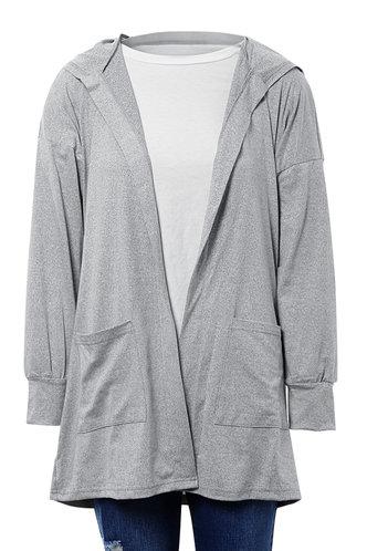 front_Long Way Light Grey Robe