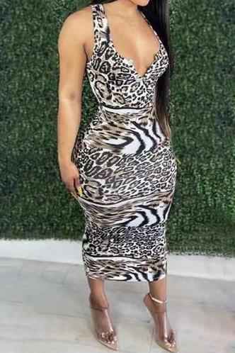 front_Evangeline Laget Leopard Print Halter Bodycon Dress