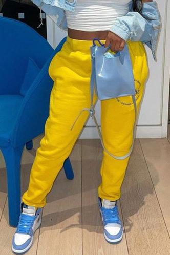 back_Brooke Eudora Yellow Sweatpants