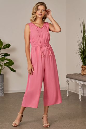 front_Made for You Pink Jumpsuit