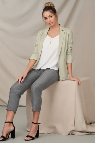 front_The Notebook Apricot Blazer