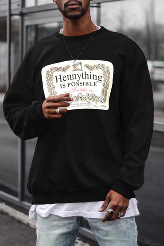 back_Street Letter Black Men Sweatshirts & Hoodies