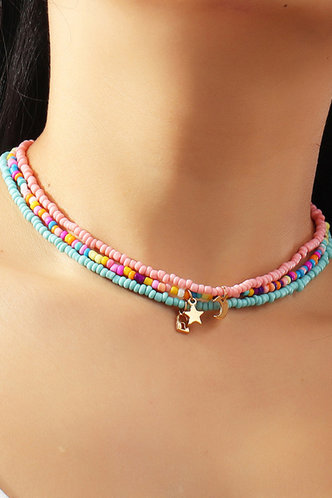 back_Hortense Elizabeth Multicolor Beaded Necklace 4pcs