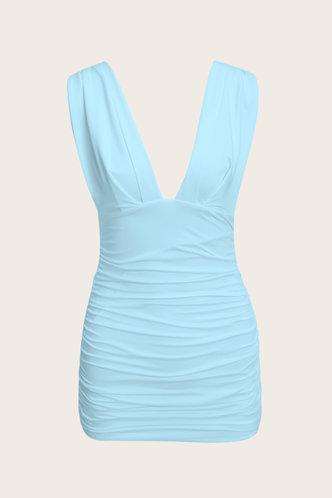 back_Dagmar Eileen Blue Ruched Dress