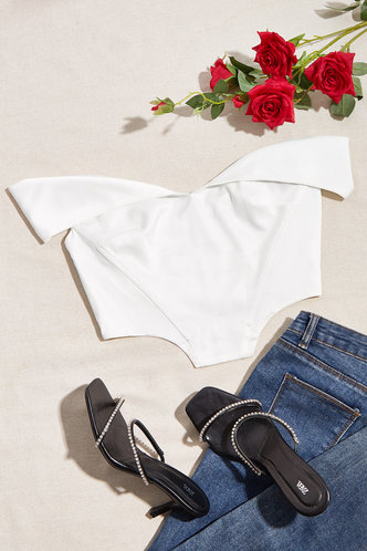 front_Beyonce White Corset Top