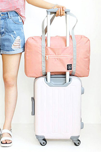 front_Color Block Pink Travel Accessorie