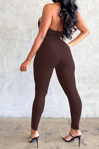 back_Giovanna Emma Brown Jumpsuit