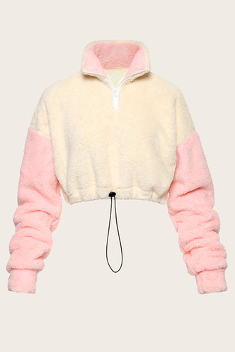 back_Sahen White And Pink Pullover