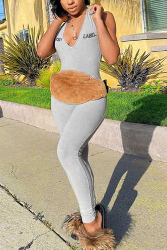 front_Ileana Eileen Light Grey Jumpsuit
