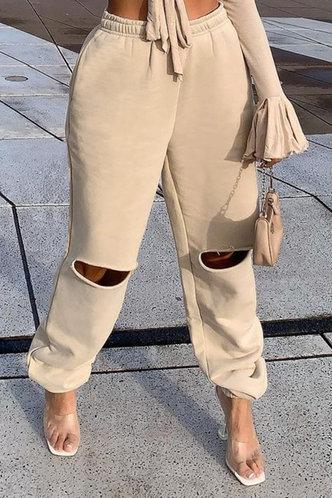 back_Adrienne Eve Khaki Pants