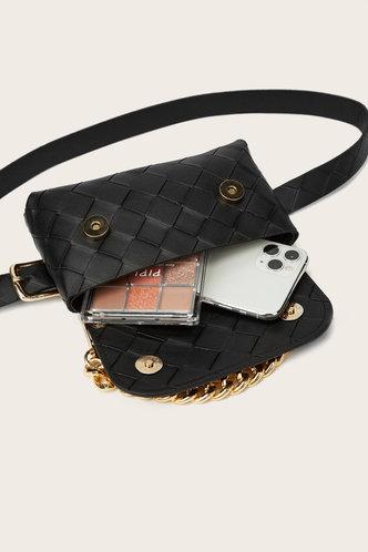 back_Heloise Garan Black Bum Bag