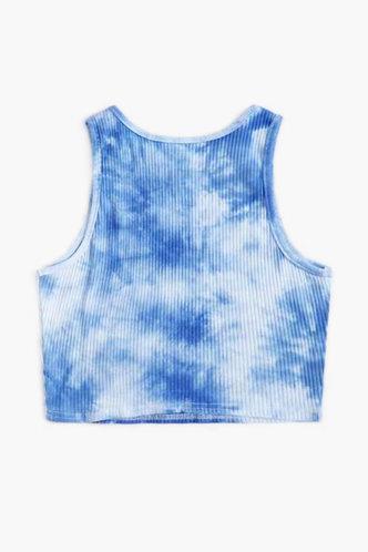 back_Flo Edith Blue Tie Dye Crop Top