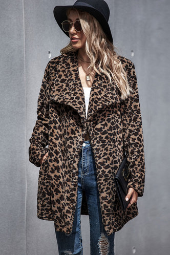 front_Astrid Elma Chic Leopard Polyester  Multicolor Outerwear