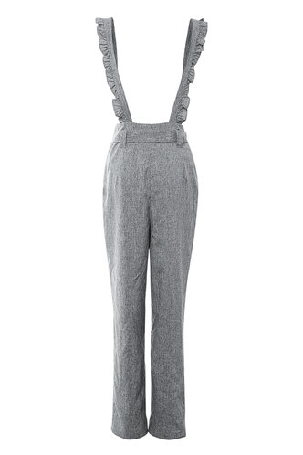 back_Take You There Grey Ruffle Straps Pants