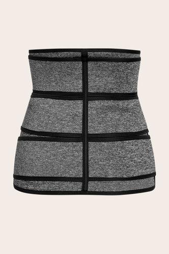 back_Lenore Elizabeth Grey And Black Corset Shapewear