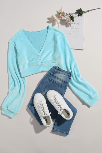 Merry Baby Blue Pullover