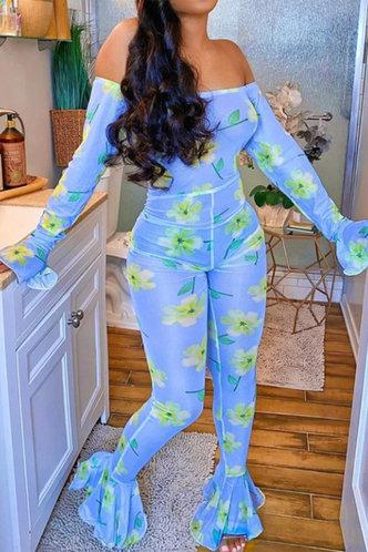 back_Elvira Glaving Blue Floral Print Jumpsuit