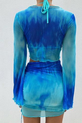 back_Rosaline Elvira Blue Tie Dye Set