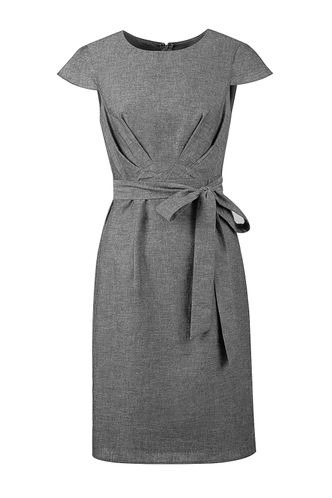 front_In The Atmosphere Washed Black Midi Dress