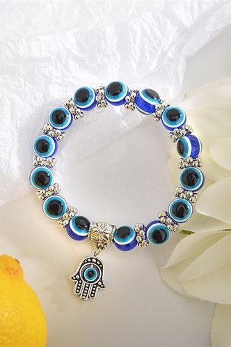 front_Sheila Elvira Blue Beaded Bracelet